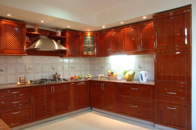 Modular kitchen designs in delhi india for Best material for kitchen cabinets in india