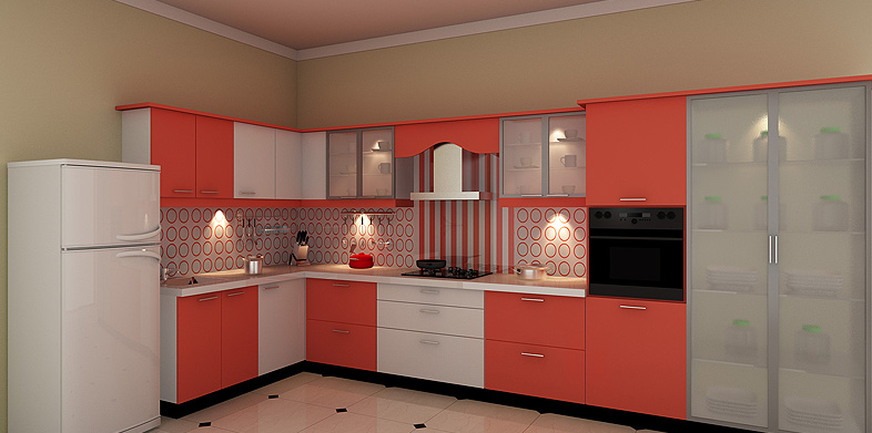 Modular kitchen designs in delhi india for L shaped kitchen design ideas india