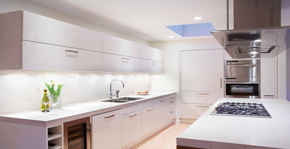 Ceiling Fixtures In The Kitchen Are Ideal For Illuminating Walkways.  Different Fixture Groupings For Work Surfaces, Walls And Walkways Provide  The Perfect ...
