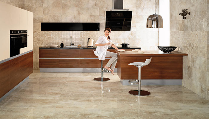 Granite Tile Flooring Is An Options For Kitchen Flooring As It Is Denser  And Much More Durable Than Other Stones. Granite Is Very Prone To Stains So  It Must ...