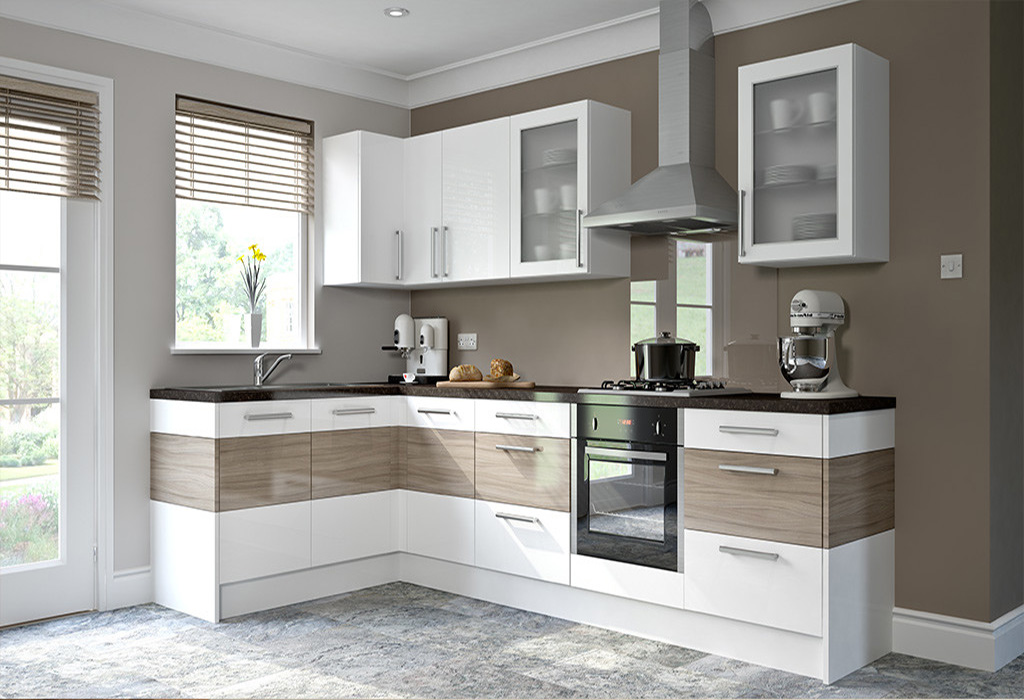 High Gloss German Kitchen Design Indian